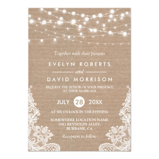 lace wedding invitations & announcements | zazzle, Wedding invitations