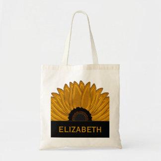 .Rustic Country Burlap Sunflower Wedding Favors Tote Bag