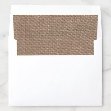 Rustic Country Burlap Wedding Envelope Liner