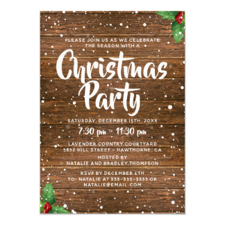 staff christmas party invitation