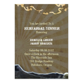 Rustic country cactus western rehearsal dinner personalized invitation