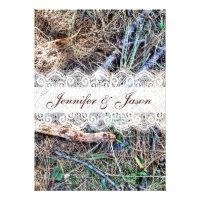 Rustic Country Camo Camouflage Wedding Invitations (<em>$2.15</em>)