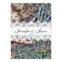 Rustic Country Camo Camouflage Wedding Invitations (<em>$2.27</em>)
