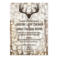 Rustic Country Camo Hunting Antlers Wedding Invite (<em>$2.27</em>)