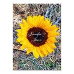 "Rustic Country Camo Sunflower Wedding Invitations 4.5"" X 6.25"" Invitation Card"
