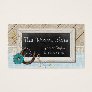Rustic Country Chalkboard - That Western Charm Business Card