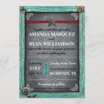 Rustic Country Chalkboard Wedding Invitation