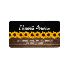 RUSTIC COUNTRY CHALKBOARD WEDDING | SUNFLOWERS ADDRESS LABELS