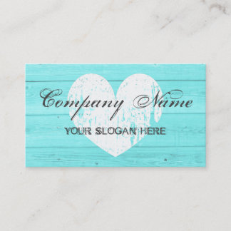 Rustic country chic business card template
