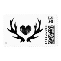 Rustic country chic deer antler stamps for wedding