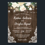 """Rustic Country Chic Floral String Lights Wedding Card<br><div class=""""desc"""">Rustic Country Chic Floral String Lights Wedding Invitation. (1) For further customization, please click the &quot;customize further&quot; link and use our design tool to modify this template. (2) If you prefer thicker papers / Matte Finish, you may consider to choose the Matte Paper Type. (3) If you need help or...</div>"""