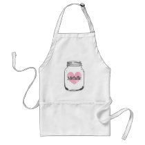 Rustic country chic mason jar apron for women