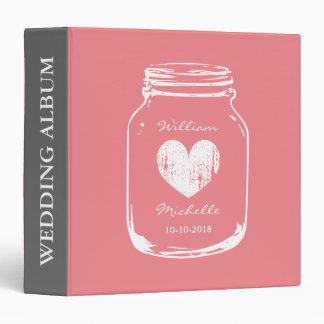 Rustic country chic mason jar wedding photo book binder