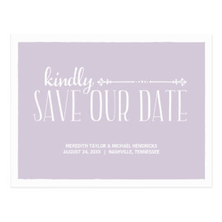 Rustic Country Chic Save the Date Postcard