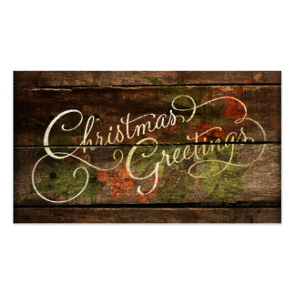 Rustic Country Christmas Business Card