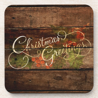 Rustic Country Christmas Coaster