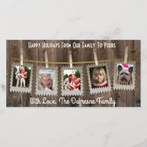 Rustic/Country Christmas Holiday Card