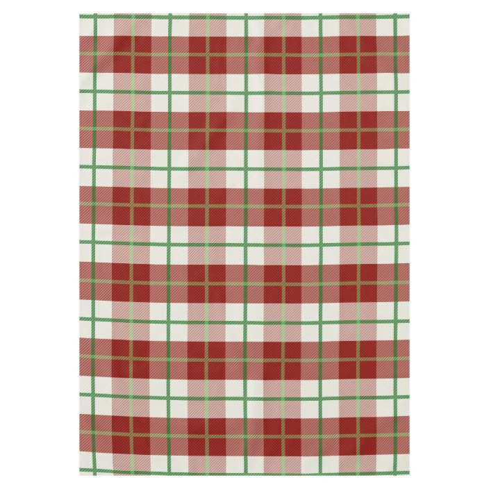 Rustic Country Christmas Holiday Tartan Plaid Tablecloth Zazzle Com