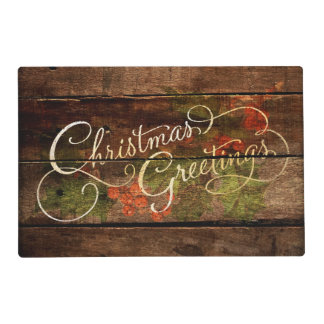 Rustic Country Christmas Placemat