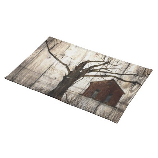 Rustic Country Christmas Placemats Zazzle