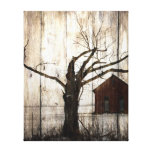 Rustic Country Christmas Print Gallery Wrapped Canvas