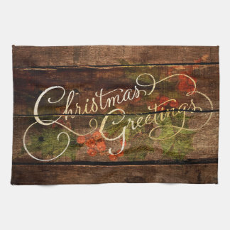 Rustic Country Christmas Towel