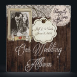 """Rustic Country Couple Photo Wedding Photo Album 3 Ring Binder<br><div class=""""desc"""">(1) You are able to change the background by clicking the &quot;Customize it&quot; button and then setting the background color or adding your own background image. (2) All text style, colors, sizes can also be modified to fit your needs. (3) If you need any customization or matching items, please contact...</div>"""