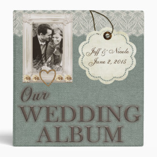 Rustic Country Couple Photo Wedding Photo Album Binder