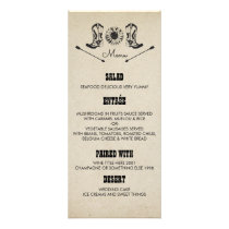 Rustic Country Cowboy Boots Wedding Menu Cards