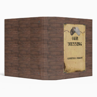 Rustic Country Cowboy Hats and Barbed Wire  Album Binder