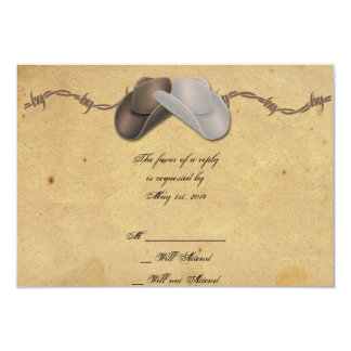Rustic Country Cowboy Hats Barbed Response Card