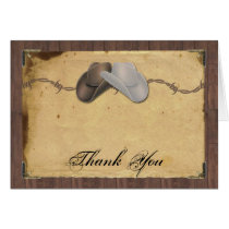 Rustic Country Cowboy Hats Barbed Wire Thank You