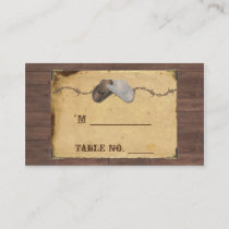 Rustic Country Cowboy Hats Wedding Place Cards
