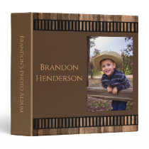 Rustic Country Cowboy Photo Album 3 Ring Binder