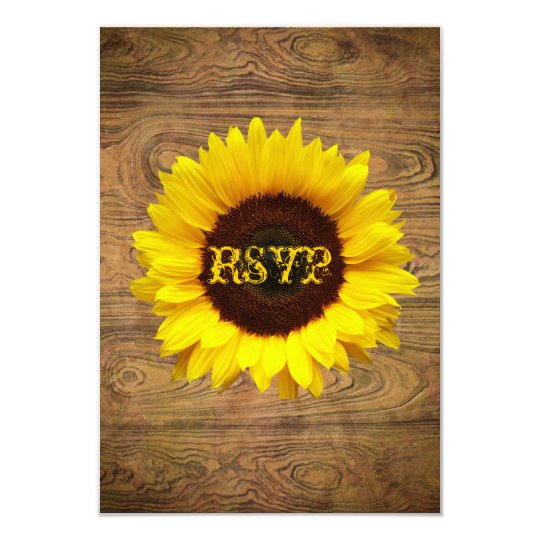 Rustic Country cowboy Wedding RSVP Response Card