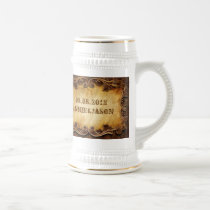 Rustic Country Cowboy Western Wedding Beer Stein