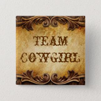 Rustic Country Cowboy Western Wedding Button