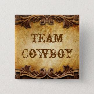 Rustic Country Cowboy Western Wedding Pinback Button