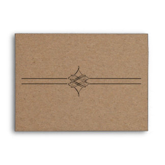 Rustic Country Decorative Brown 5*7 Envelope