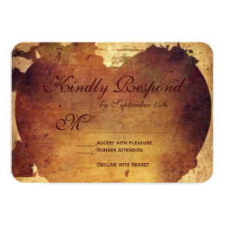 Rustic Country Distressed Heart Wedding RSVP Cards Personalized Invitations