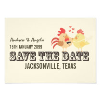 Rustic Country Farm Wedding Save the Date Card