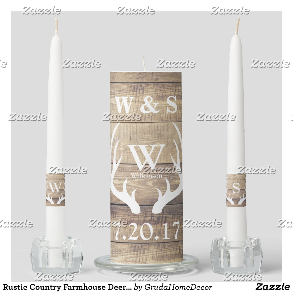 Cheetah print wedding ceremony candle set Wedding unity candle set.