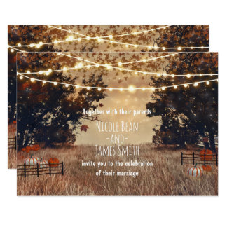 Rustic Country Field Autumn Wedding Invitations