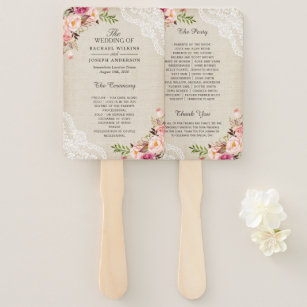 country wedding hand fans zazzle