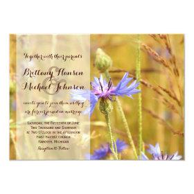 Rustic Country Flower Farm Wedding Invitation 4.5