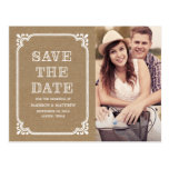 Rustic Country Frame | Save the Date Postcard