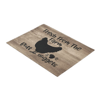 Rustic Country Fresh From The Farm Door Mat