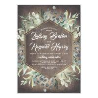 Rustic Country Greenery Barn Wedding Invitation