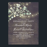 "Rustic Country Greenery Garden Engagement Party Invitation<br><div class=""desc"">Botanical watercolor greenery rustic country engagement party invitations</div>"