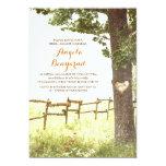 "rustic country heart tree bridal shower invites 5"" x 7"" invitation card"